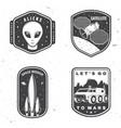 set space mission logo badge patch vector image