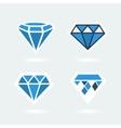 set symbols diamond vector image vector image