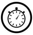 stopwatch black white icon vector image vector image