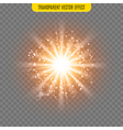 sun light lens flare glare template transparent vector image vector image