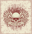 Symbol of the skull with teeth vector image vector image