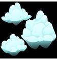 Three snow blocks ice iceberg vector image vector image