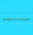 transparent glass shelf vector image vector image