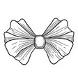 vintage bow icon hand drawn style vector image vector image