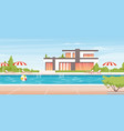 water swimming pool summer vacation landscape vector image vector image