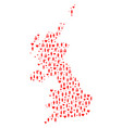 wedding people mosaic map of united kingdom vector image