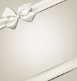 White gift bow vector image vector image