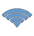 wifi signal isolated icon vector image vector image
