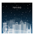 winter night in fresno night city in flat style vector image vector image
