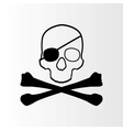 Pirate sign Skull and bones Jolly roger vector image