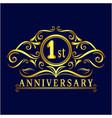 1 years anniversary logo luxurious 1st anniversar