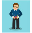 a man has a stomach ache vector image vector image