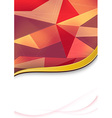 Abstract banner template with bokeh elements vector image vector image