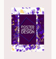 abstract design poster banner card vector image vector image