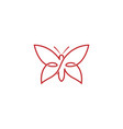 abstract purple butterfly logo vector image