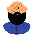 bald guy with a beard vector image
