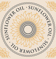 Banner for refined sunflower oil with sunflower