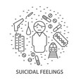banners for suicidal feelings vector image vector image