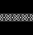 black and white borderpattern in medieval celtic vector image