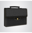 Black leather briefcase on the button vector image