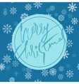 Blue christmas background with christmas blue vector image vector image