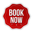 book now label or sticker vector image