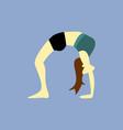 bridge stretches yoga pose vector image vector image