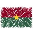 Burkina Faso grunge flag vector image vector image
