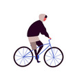 cartoon hipster male riding city bicycle vector image vector image