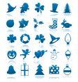 celebratory icons vector image vector image