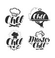 chef cook logo or label for design vector image vector image