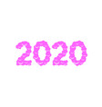 christmas 2020 sweet numbers vector image vector image