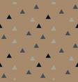 color triangles seamless pattern vector image vector image