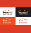 colorful logo of electro car vector image vector image