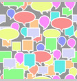 colorful speech bubbles seamless pattern vector image vector image