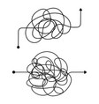 confused process chaos line symbol tangled vector image