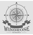 Corporate logo with windrose vector image vector image
