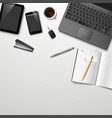 creative design workspace mock up vector image