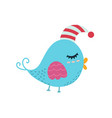 cute sleeping bird isolated element animal vector image vector image