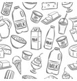 dairy product seamless pattern vector image vector image