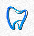 dental tooth icon vector image
