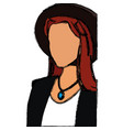 drawing woman no face fashionable model vector image vector image