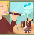e-cigarettes concept cartoon style vector image
