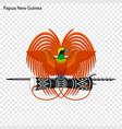 emblem of papua new guinea vector image vector image