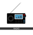 emergency weather radio icon vector image vector image