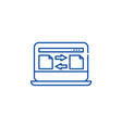 file transfer line icon concept file transfer vector image vector image