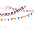 flags bunting philippines on white backgrounds vector image vector image