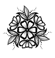 floral pattern a design element in the old style vector image vector image