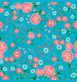floral seamless pattern with stylized flowers can vector image