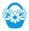 flowers in basket vector image vector image